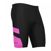 Optimum Ladies Nitebrite Cycling Shorts - Black/Fluoresent Pink