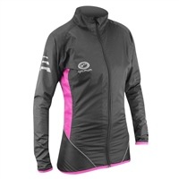 Optimum Ladies Nitebrite Rain Jacket - Black/Fluoresent Pink