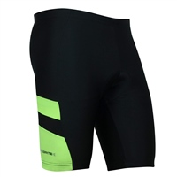 Optimum Mens Nitebrite Cycling Shorts - Black/Fluorescent Green