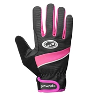 Optimum Winter Cycling Gloves - Black/Fluoresent Pink