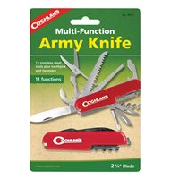 Coghlans Army Knife - 11 Function - Red