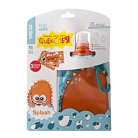 Vapur Kids Splash Foldable Bottle - Orange