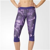 Adidas Techfit Graphic Print Capri - Purple/Black