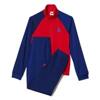 Adidas Young Girls Entry Tracksuit - Red/Blue