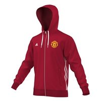 Adidas MUFC Manchester United 3S Full Zip Hoodie - Red