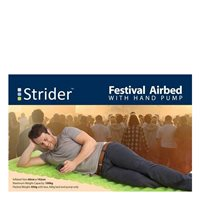 Strider Festival Airbed with Hand Pump - Green