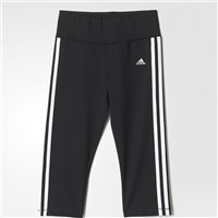 Adidas Girls Training 3/4 Tights - Black/white/Silver