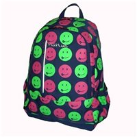 Highland Lillyputs Smiley Emoji Backpack - Navy/Green/Red