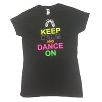 Gildan Keep Calm Irish Dancing T-Shirt - Black