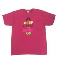 Gildan Keep Calm Irish Dancing T-Shirt - Pink