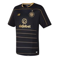 New Balance Celtic FC Adults Away S/S Jersey 2016/17 - Black/Gold