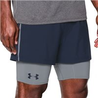 Under Armour Mens Mirage 2-in-1 Short -  Navy