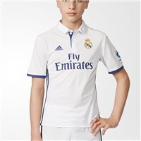 Adidas Real Madrid Home Jersey 2016/17 - Kids - White