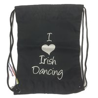 Bag Base I love Irish Dancing Gym/Shoe Sack - Girls - Black