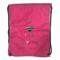 Bag Base I love Irish Dancing Gym/Shoe Sack - Girls - Pink