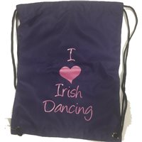Bag Base I love Irish Dancing Gym/Shoe Sack - Girls - Purple