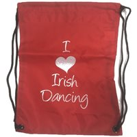 Bag Base I love Irish Dancing Gym/Shoe Sack - Girls - Red