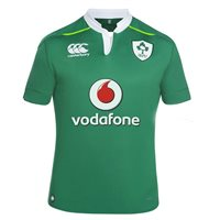 Canterbury IRFU Ireland Rugby Home Jersey 2016/17 - Green