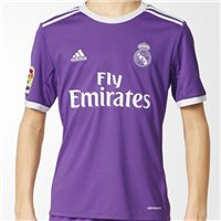 Adidas Real Madrid Away Jersey 2016/17 - Kids - Purple/White