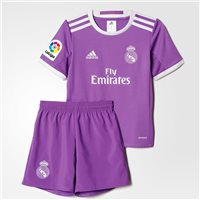Adidas Real Madrid Away Kit 2016/17 - Toddler - Purple/White