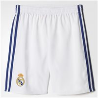 Adidas Real Madrid Home Shorts 2016/17 - Kids - White/Navy