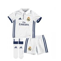 Adidas Real Madrid Mini Home Kit 2016/17 - Toddler - White/Navy