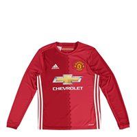 Adidas Man Utd Adults Long Sleeve Home Jersey 2016 - Red