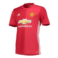 Adidas Man Utd FC Adult Home S/S Jersey 2016/17 - Red