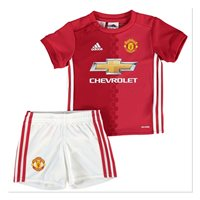 Adidas Man Utd FC Mini Home Kit 2016/17 - Red/White