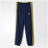 Adidas Boys Essential 3S Brushed Track Pants - Navy/Yellow