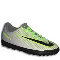 Nike Jr. Mercurial Vortex III TF Turf Trainers -  Grey/Black/Green