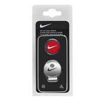 Nike Golf Hat Clip / Ball Marker -  Red/White