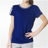Adidas Girls T-Shirt - Navy/White