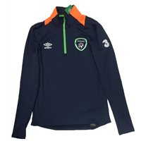 Umbro Ireland FAI Tournament 1/2 Zip Top - Adult - FE Navy/Orange