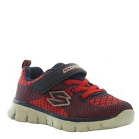 Skechers Boys Synergy Mini Knit - NVRD Navy/Red