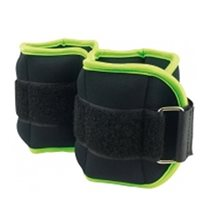 Ultimate Fitness Ankle/Wrist Weights 1.0kg - Pair - Black/Green