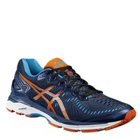 Asics Mens Gel Kayano 23 Running Shoes -  Poseidon/Flame Orange