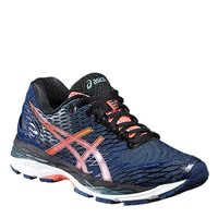 Asics Womens Gel Nimbus 18 Running Shoes -  Poseidon/Flash Coral