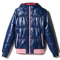 Adidas Girls Padded Jacket - Navy/Pink/White