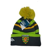 Introsports Mens Donegal GAA Bobble Hat - Grey/Green/Gold
