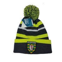 Introsports Mens Donegal GAA Bobble Hat - Grey/Neon/White