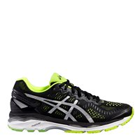Asics Mens Gel Kayano 23 Running Shoes -  Black/Silver/Yellow