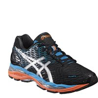 Asics Mens Gel Nimbus 18 Running Shoes -  Onyx/Silver/Blue