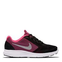 Nike Revolution 3 Grade School GS -  Black/Silver/Pink