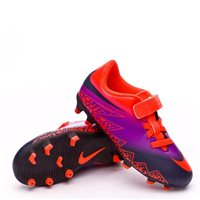 Nike Jr Hypervenom Phade 2 (velcro) FG Football -  Crimson/Black/Purple