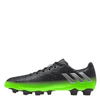 Adidas Kids Messi 16.4 FxG Football Boots - Dark Grey/Silver/Green