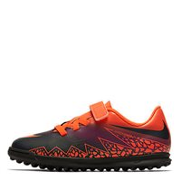 Nike Jr Hypervenom Phade II Velcro TF Turf -  Crimson/Black/Purple