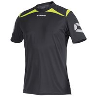 Stanno Forza T-Shirt - Anthracite/Neon Yellow