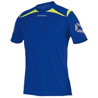 Stanno Forza T-Shirt - Deep Blue/Neon Yellow