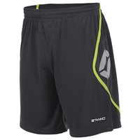 Stanno Pisa Short - Anthracite/Neon Yellow - (MIN. QTY 6)